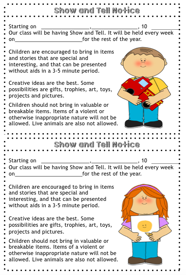 Editable Show And Tell Bundle