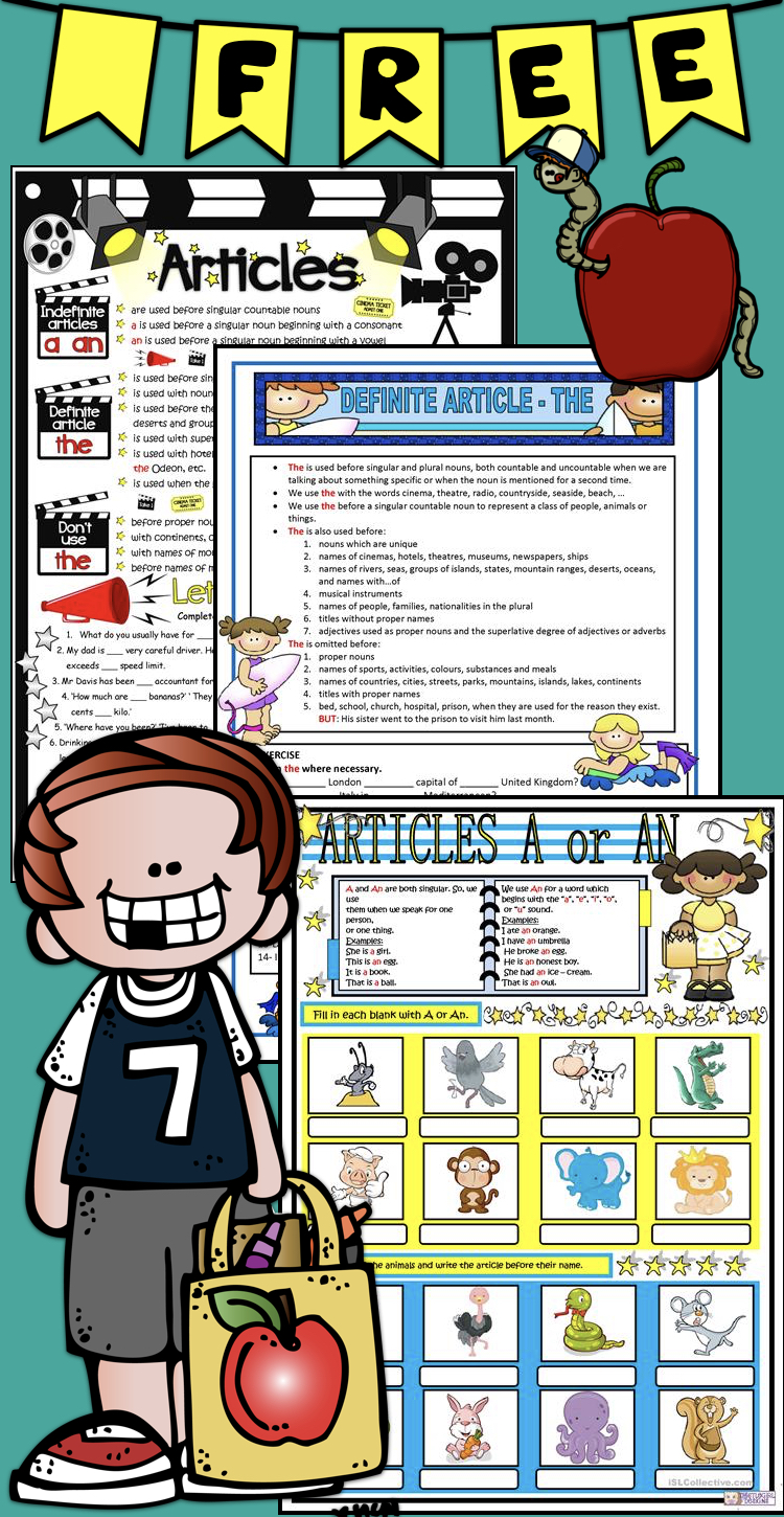 FREE Articles – guide & practice worksheets for kids